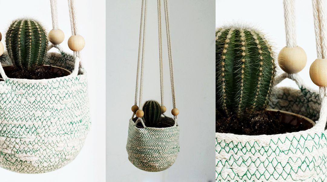 Uszyj niepowtarzalny koszyk na doniczkę – proste DIY