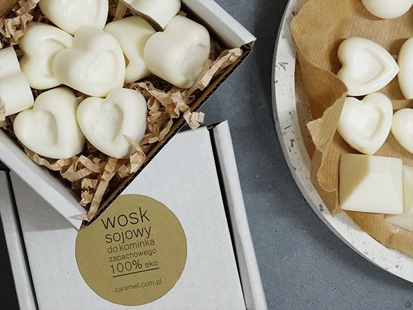 woski sojowe do kominków zapachowych - caramel warsztaty online